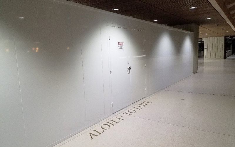 Temporary Barricade with Double Door Access at Honolulu Intl Airport (HNL)