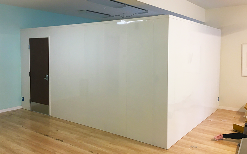 Modular Walls Enclosure with Finished Interior and Exterior Walls