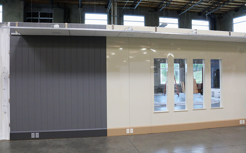 Modular Walls with Vertical Window Panels
